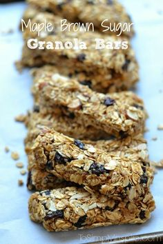 These homemade Maple Brown Sugar Granola Bars are loaded with yumminess.  Added cinnamon, vanilla and nutmeg add extra special flavor to this healthy treat.