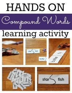 This hands on compound words learning activity is loads of fun for kids!