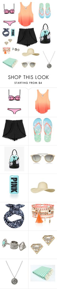 """""""Beach Day"""" by hanwilloughby ❤ liked on Polyvore featuring Milly, Aéropostale, Koza, Taylor Morris, Topshop, H&M, Accessorize and MANGO"""
