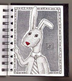 Ilustrador Alexiev Gandman: Hay un Conejo oficinista en mi Anotador