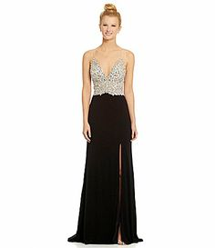 JVN by Jovani Sleeveless Sequin Beaded Gown #Dillards  @Amy Bure what do u think of this for you?