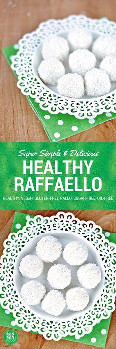 Healthy Raffaello   WIN-WINFOOD.com #healthy #vegan #sugarfree #glutenfree #oilfree #paleo