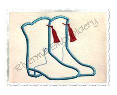 $2.95Applique Drill Team Boots Machine Embroidery Design