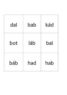Lottó b-d 2/II. szavak