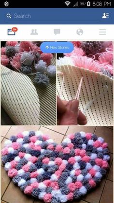 Pin by Specialgifts on Geschenke Tulle pom pom mobile Baby mobile Decorative by PomPomMyWorld - Salvabrani I love this idea - Diy and Crafts Diy Pom Pom Rug, Pom Pom Crafts, Yarn Crafts, Pom Poms, Diy Home Crafts, Creative Crafts, Crafts To Sell, Sewing Projects, Diy Projects
