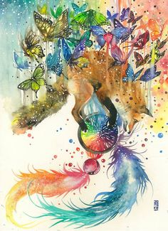 Artist Luqman Reza creates expressive animal paintings using watercolor paint. His artwork is truly stunning. Art And Illustration, Watercolor Illustration, Watercolor Art, Watercolor Paintings Of Animals, Animal Paintings, Art Fox, Dream Catcher Art, Poses References, Inspiration Art