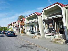 50'ies style shopping street in Gothenburg, Sweden