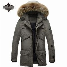 9ad8fe2174f New Brand Winter Jacket Men 90% White Duck Down Jacket Hooded Parkas Mens  Down Jacket Thickening Outerwear Jackets Coat