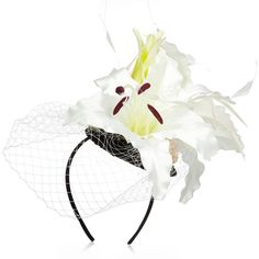 River Island Cream flower fascinator (135 HRK) ❤ liked on Polyvore featuring sale