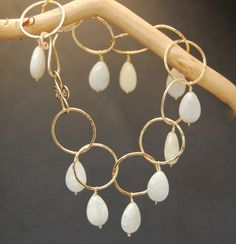 Bracelet 9 Hammered large link chain with by CalicoJunoJewelry, $112.00
