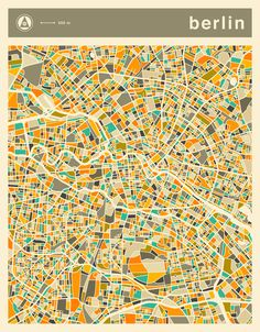 Poster | BERLIN MAP von Jazzberry Blue | more posters at http://moreposter.de