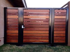 Fences: Modern Wooden Fences And Gates Patio Fence Designs Modern Horizontal Gate Wood Slat Makeovers Wooden Fences And Gates