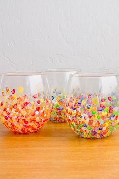 DIY Colorful Hand-Dotted Tumblers