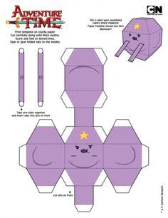 Adventure Time Crafts, Adventure Time Birthday, Adventure Time Parties, Adventure Time Anime, 3d Paper, Paper Toys, Paper Dinosaur, Anime Crafts, Paper Dolls Book