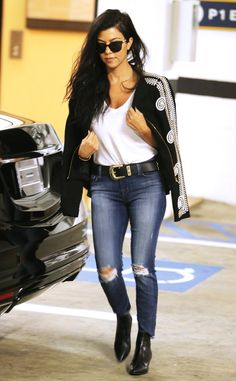 Kourtney Kardashian from The Big Picture: Today's Hot Pics  The mother of three rocks a chic ensemble in Beverly Hills.