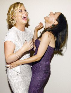 Amy Poehler and Julia Louis-Dreyfus lost their composure during an April 27 cocktail reception held in Washington, D.C. before the White House Correspondents Dinner.