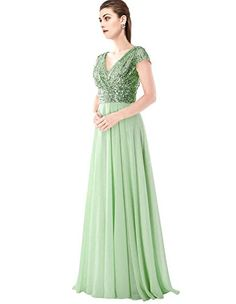 OYISHA Womens Cap Sleeve Sequin Bridesmaid Dress V-neck P... https://www.amazon.com/dp/B06VVP9RXH/ref=cm_sw_r_pi_dp_x_qCyXyb6GE6ZPH