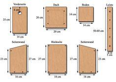 Nistkasten bauen, DIY nesting box, bird house for your garden Bird House Feeder, Diy Bird Feeder, House Sparrow, Sparrow Bird, Bird House Plans, Bird Houses Diy, Small Wood Projects, Bird Boxes, Nesting Boxes