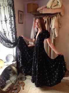 Ozzie Clark Retro Outfits, Vintage Outfits, Vintage Clothing, Vintage Fashion, Celia Birtwell, Ossie Clark, Vivienne Westwood, New Look, Vogue