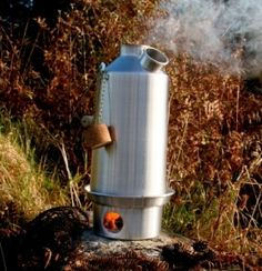 NOW WITH UPGRADED STAINLESS STEEL FIRE-BASE BASIC KIT Camping Kettle and Camp Stove in one Ultra fast lightweight wood fuelled stove Base Camp Kelly Kettle/® NO Batter 1.6ltr Aluminium Kettle + Steel Cook Set + Steel pot support + Green Whistle