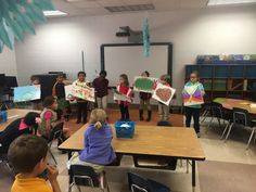 Mrs. Golson's class acting out a story