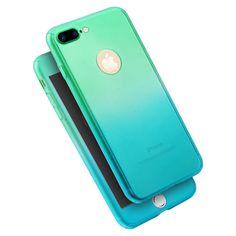 for iphone 7 7 plus Fashion Gradual Color Change Shockproof PC Back CoverCase  #UnbrandedGeneric