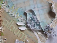love the idea of using an outline and filling it in with abstract swirls.  Quilling
