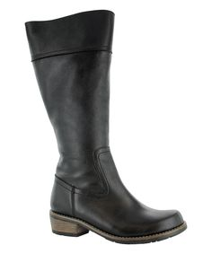 Look what I found on #zulily! Wolky Black Tinto Leather Wide-Calf Boot by Wolky #zulilyfinds