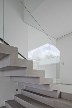 Stairs Casa HS, Sao Paulo in Brazil   stairs . Treppe . escalier   Design: Studio Arthur Casa     Photo: Fernando Guerra – FG+SG  