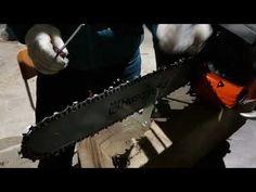 엔진톱 체인날 연마방법 - YouTube Chainsaw, Outdoor Power Equipment