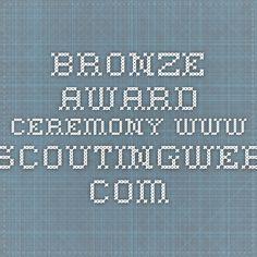 Bronze Award Ceremony www.scoutingweb.com