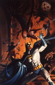 Batman vs Penguin by Joe DeVito