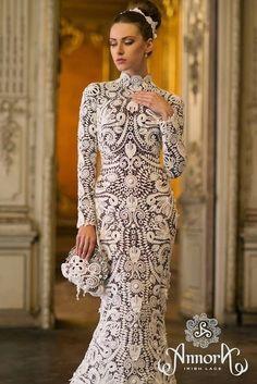Marlene crochet Wonderful Lace Dress Irish MODEL NET!