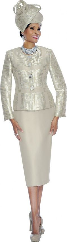Terramina 7453 Womens Pattern Church Suit