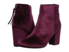 Steve Madden Cynthiav (Burgundy Velvet) Women's Boots