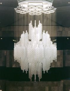 GULF HOTEL DOHA - 7076 - Designer Chandeliers from Kalmar ✓ all information ✓ high-resolution images ✓ CADs ✓ catalogues ✓ contact info… Large Chandeliers, Glass Chandelier, Chandelier Lighting, Pendant Lamp, Designer Chandeliers, Bathroom Lighting, Ceiling Fixtures, Ceiling Lamp, Ceiling Lights