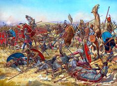 The Battle of Nisibis during the Roman Parthian Wars in 217 AD. Art by Igor Dzis Military Art, Military History, Ancient Rome, Ancient History, Parthian Empire, Fall Of Constantinople, Rome Antique, Roman Legion, Medieval World