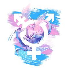 """Trans Pride Dragon"" by kaenith | Redbubble"