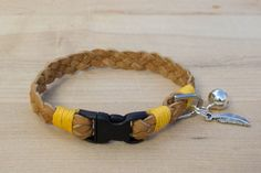 Braided Tan Suede Leather Lace Cat Collar by WhiskeredAway on Etsy