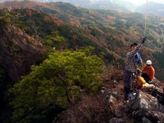 山頂上空からカイトフォト(Kite Aerial Photography)