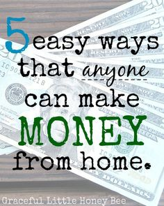 Missy has some great ideas and seriously- almost everybody can do these! make extra money at home, make extra money in college