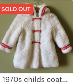 1960s vintage baby coat. Fleecy, Christmas!