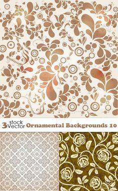 Vectors - Ornamental Backgrounds 10