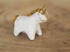 Unicorn ring holder  Clay unicorn ornament  Unicorn jewelry