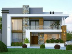 click here Urban Interior Design, Small House Interior Design, House Front Design, Modern House Design, Modern Houses, Studio Apartments, Modern Exterior, Exterior Design, Ikea Hacks