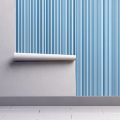 Teal wave stripes on Isobar by diseniaz Perfect Wallpaper, Cloth Napkins, Custom Wallpaper, Textured Walls, Installation Art, Tea Towels, Spoonflower, Teal, Waves