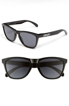 Mens Oakley Sunglasses - Polished Black/ Grey