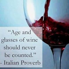 Age and glasses of wine should never be counted. Picture Quotes.