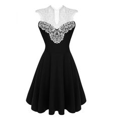ACEVOG Women Summer Lace Dress Sexy vestidos 2016 Lady Sleeveless Lace Patchwork High Waist Pleated Casual Knee Length Dress