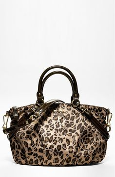 Free shipping and returns on COACH MADISON OCELOT OP ART SOPHIA SATCHEL at Nordstrom.com. A sophisticated silhouette rendered in exotic printed fabric with a discreet logo and a beautiful sheen, luxuriously trimmed with glossy patent leather.